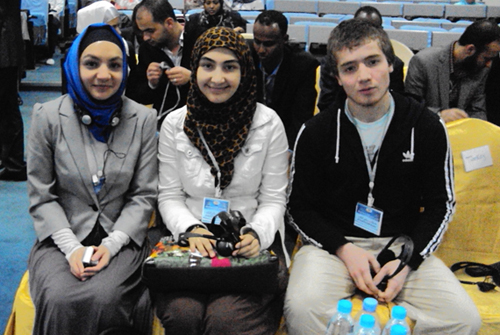 "Participants of the youth forum: Adelya Faizullina, a representative of the ""Solidarnost"" foundation in Tatarstan, Naida Tonaeva, a representative of the ""Solidarnost"" foundation in Dagestan and Abdulazam Kebedov, our volunteer in Dagestan."